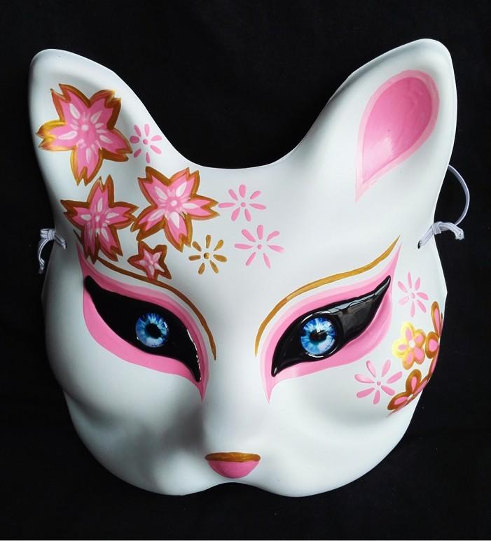 新品熱賣狼人殺狐貍面具 塑料狐貍面具 封閉眼睛 桌游面具 殺人游戲面具