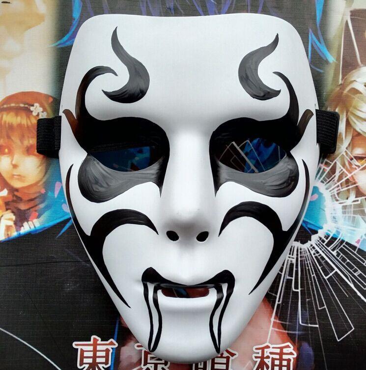 新品熱賣純手工繪制鬼步舞面具 街舞面具 表演面 舞臺演出面具 萬圣節面具