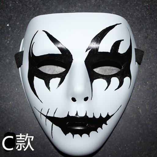 新品熱賣鬼舞手繪面具白色男女街舞面具jabbawockeez機械舞表演曳步舞面具