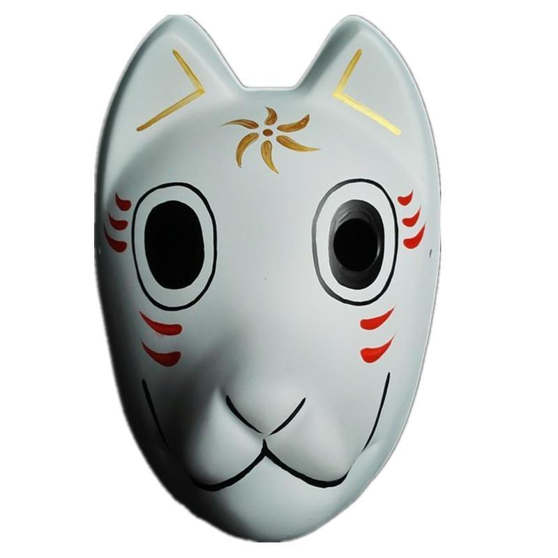 新品熱賣天天特價螢火之森 阿金手繪面具 日本狐貍妖狐和風全臉面具塑料款