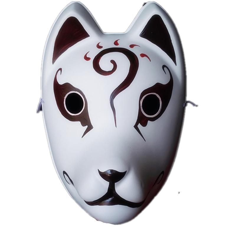 新品熱賣【鬼舞一族】原創高端日本妖狐般若全臉塑料面具紅色狐貍動漫cos