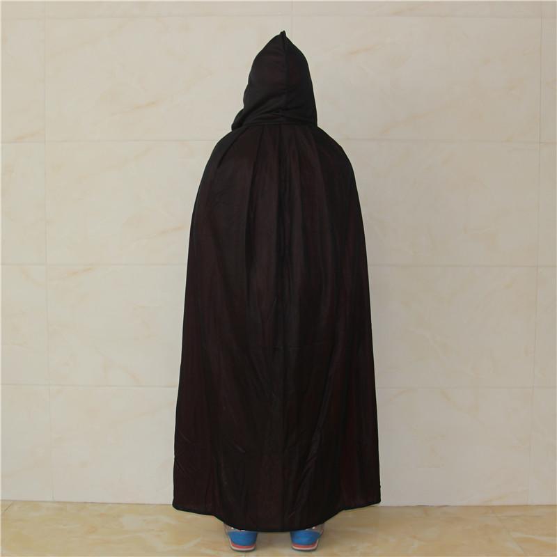 新品熱賣萬圣節兒童大人表演服裝cos舞會演出死神雙面紅黑色披風帶帽子