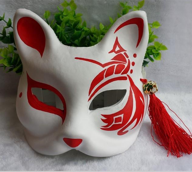 新品熱賣六一兒童節面具 小孩面具  搞怪面具 狐貍面具 手繪面具 表演面具