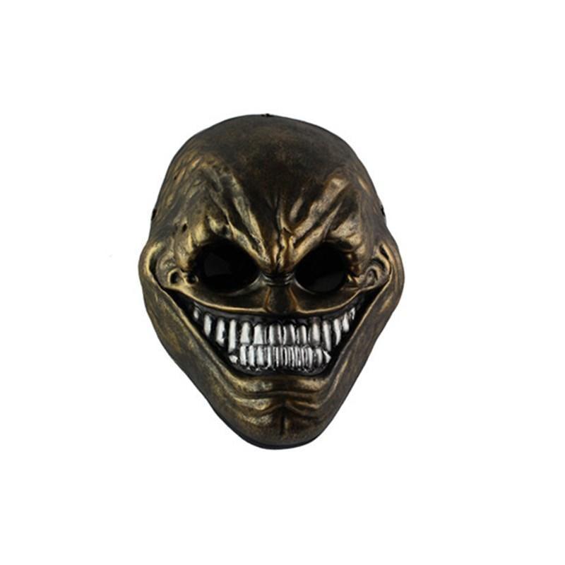 新品熱賣萬圣節Payday2主題珍藏版游戲收獲日異形男女白色樹脂面具