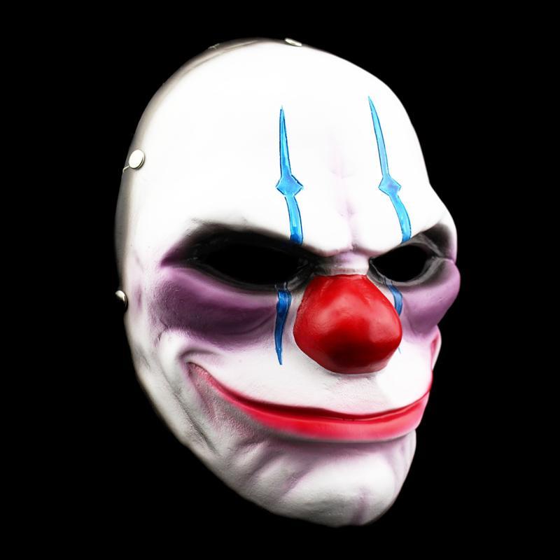 新品熱賣萬圣節收獲日2游戲道具cos play珍藏版小丑cos裝扮精品樹脂面具