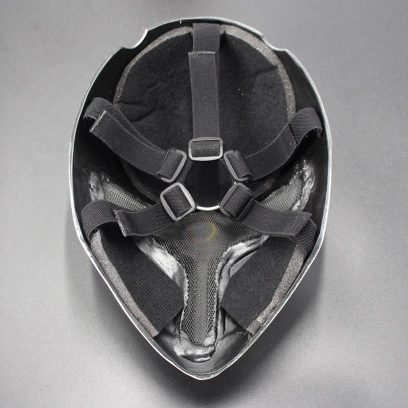 新品熱賣新品萬圣節恐怖 Fox灰狐貍舞會cos裝扮玻璃鋼防護眼罩樹脂面具