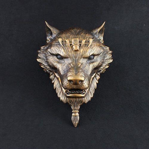 新品熱賣狼人殺遮光面具掛飾