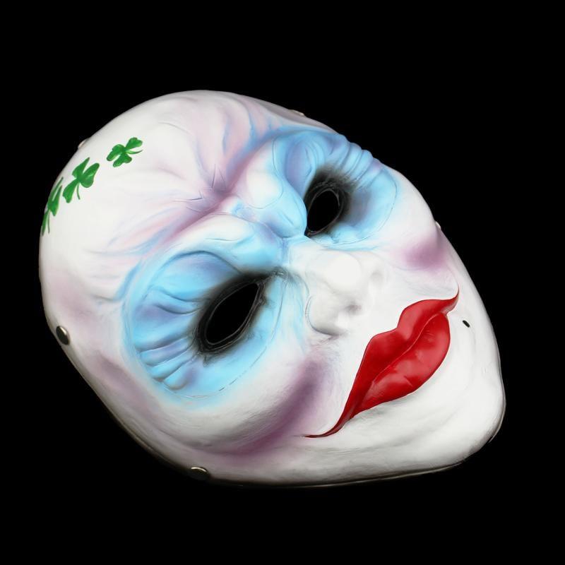 新品熱賣萬圣節面具 游戲收獲日2女劫匪cos舞會恐怖面具 收藏版樹脂面具