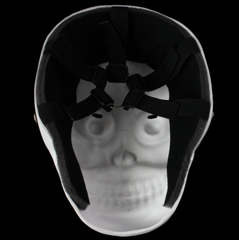 新品熱賣萬圣節收貨日小丑惡魔骷髏恐怖鬼臉cos裝扮白色精品樹脂面具包郵