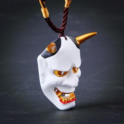 新品熱賣雙十一圣誕節2017日本鬼頭般若能面妖狐火影掛飾面具