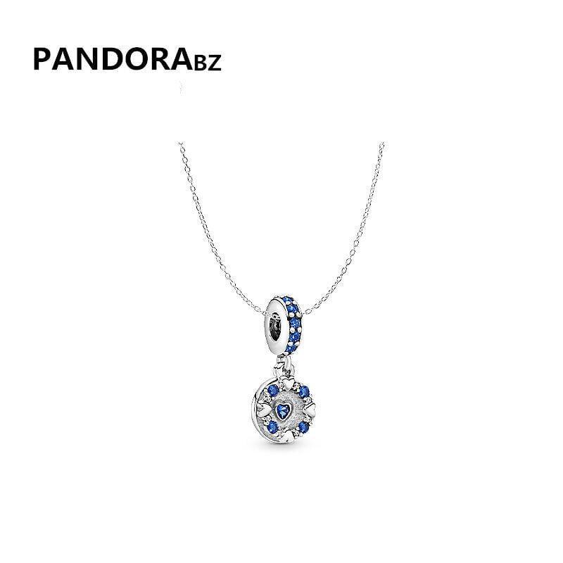 正品Pandorabz潘多拉的寶藏耀目之心項鏈鎖骨鏈女925銀飾氣質項鏈