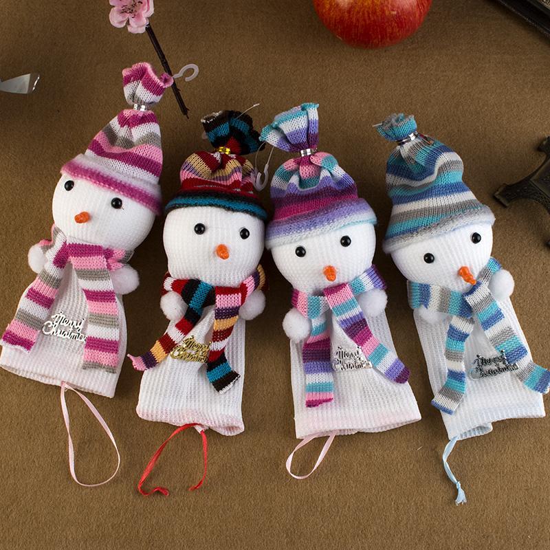 圣誕節蘋果包裝袋子平安夜平安果蘋果盒子 創意娃娃雪人蘋果袋