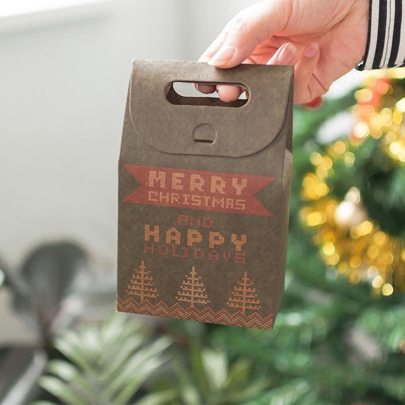 平安夜復古蘋果禮盒圣誕節禮品盒子創意平安果包裝紙盒禮物手提袋