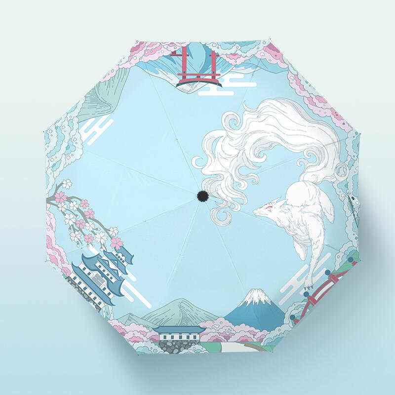【推薦】日系和風咪老師防曬遮太陽傘二次元夏目斑動漫雨傘友人帳女可愛