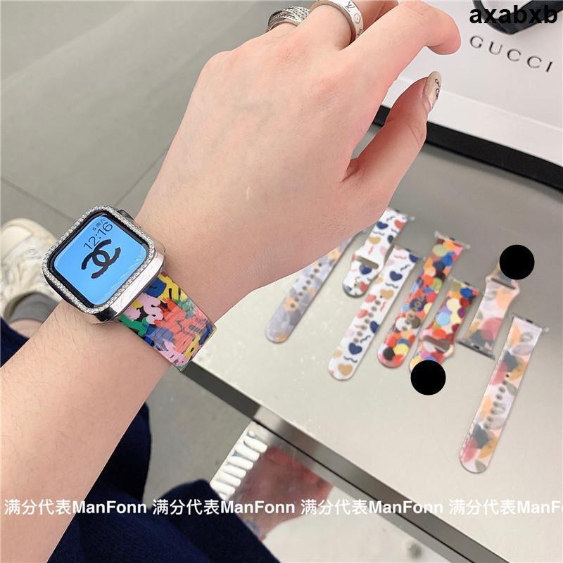 精品秒發🚋🎀ins風小清新適用iwatch2345代蘋果手表applewatch6硅膠運動表帶se男