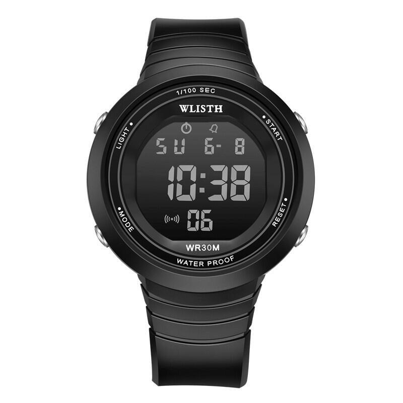 ★[促銷]電子手表女學生防水運動簡約休閑多功能表盤黑色手表