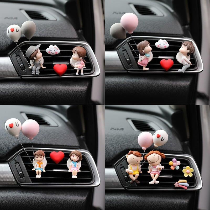 汽車可愛創意氣球情侶出風口空調香水香薰車載裝飾車內飾品擺件女