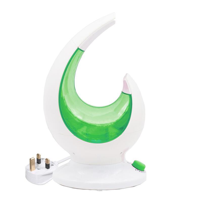 Mus  DECDEAL 超聲波LED大容量加濕器旋鈕式智能加濕器創意月亮款香薰機綠色英規