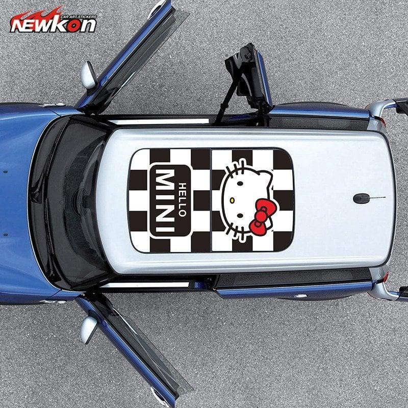 【重磅超質感】寶馬迷你MINI精品 cooper汽車貼紙創意可愛MINI精品車貼拉花天窗貼車頂貼超讚哦