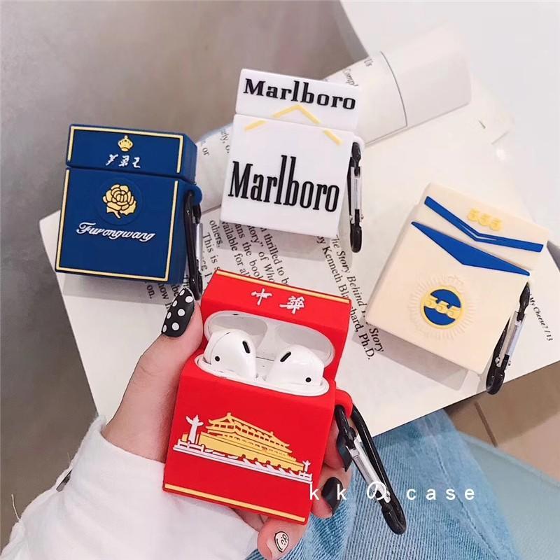 創意方形煙盒Airpods Pro保護套蘋果無線藍牙耳機套Airpods硅膠殼