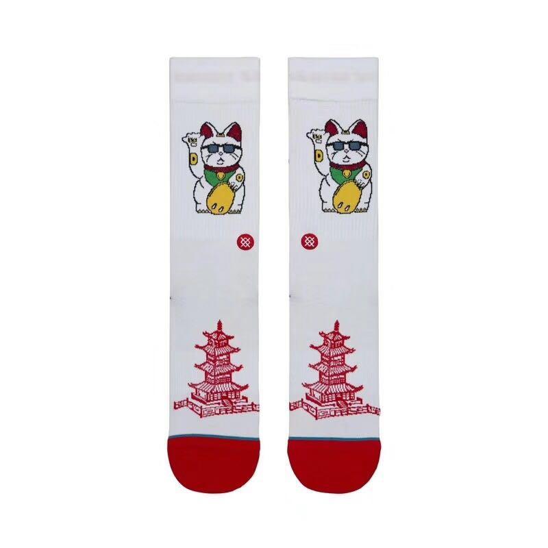 STANCE扎染條紋美國回購巔峰潮襪滑板襪休閑潮流中筒棉襪