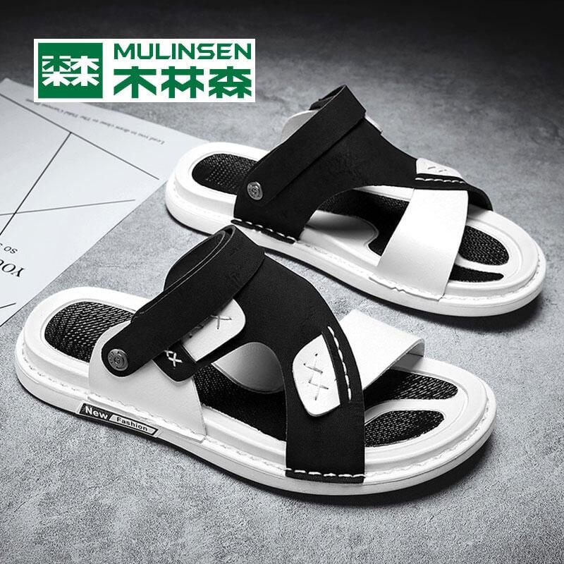 木林森涼鞋男鞋夏季透氣網紅ins拖鞋男韓版外穿涼拖兩用沙灘鞋男