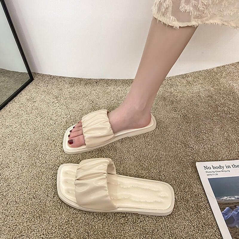 網紅涼拖鞋女仙女風夏季外穿ins潮2021年新款超火平底沙灘鞋海邊