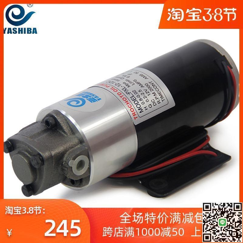 亞士霸12v抽油泵直流電小型電動自吸油泵齒輪油泵機床冷卻泵油抽