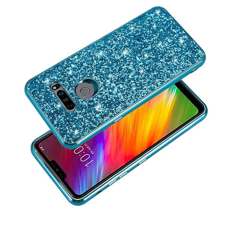 【HK】LG G8閃鉆手機殼LG G8三攝全包手機套亮鉆軟硬殼PC+TPU創新外殼韓