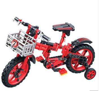 衛樂積木7064單車科技系列兒童益智拼裝顆粒模型玩具禮物