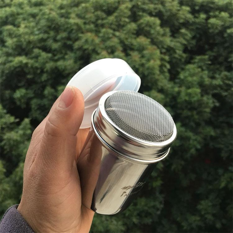 AXEMEN新款304不銹鋼戶外餐具撒粉罐調味瓶調料罐 帶網孔蓋密封蓋