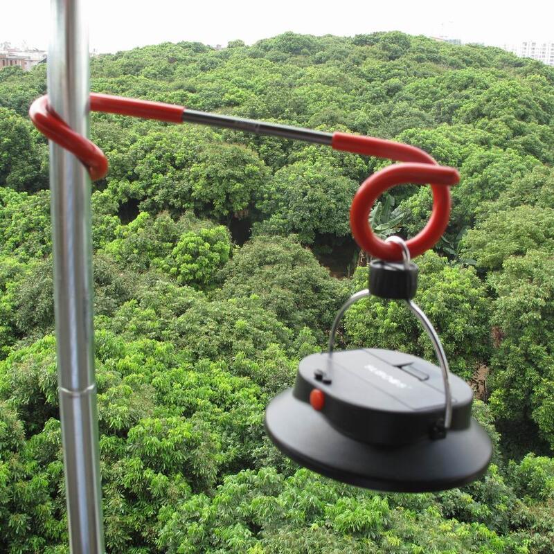 AXEMEN超輕鋁合金S型桿勾汽燈掛鉤/野營天幕桿掛扣/營地燈燈架