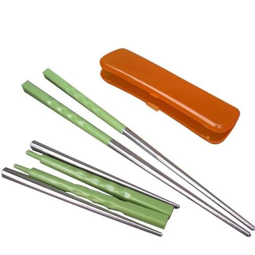 便攜塑鋼混合折疊不銹鋼筷子/野餐筷子/環保筷子 折疊筷子