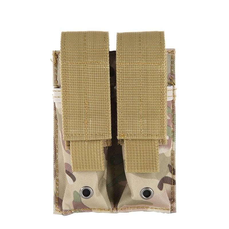 戶外戰術軍迷彈夾包雙手電筒包袋雙聯彈匣背心配件附件袋多功能