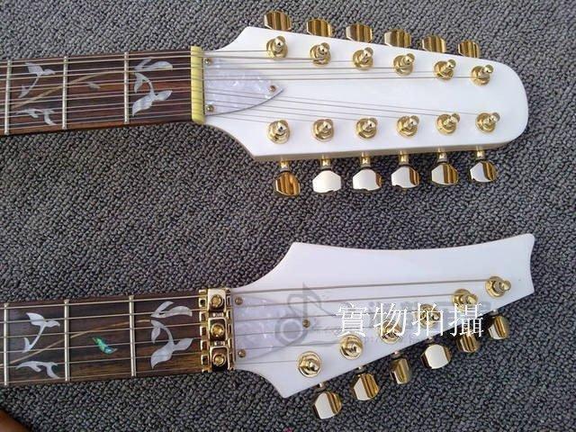 Ibane*雙頭7V電吉他雙頭電吉他雕花指板(可定做修改)4466308821388