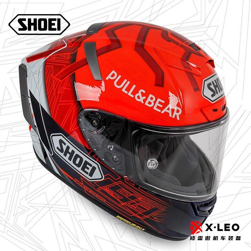 Shoei X14經典紅螞蟻馬奎茲加藤加賀素色摩托車頭盔男女跑盔全盔