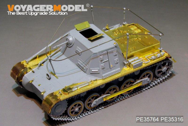 PE35764 1/35 二戰德軍I號坦克指揮型(Sd.Kfz.265)基本改造件 FOR DRAGON 6218 65