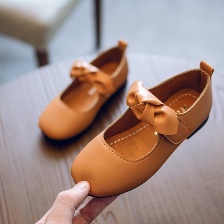 2018春款韓版女童皮鞋公主鞋兒童單鞋豆豆鞋寶寶鞋中大童學生鞋潮【潮咖地帶】