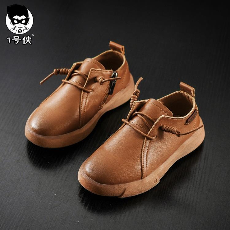 男童黑色皮鞋2018春季新款兒童鞋英倫學生演出鞋小皮鞋休閒單鞋潮【潮咖地帶】