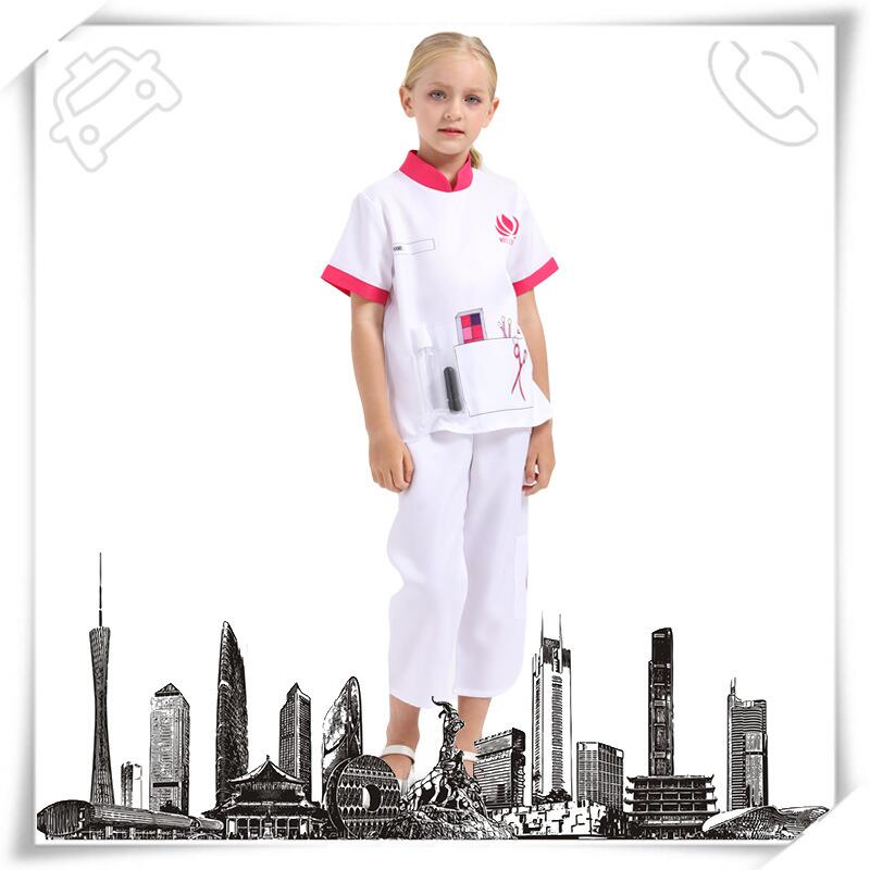 兒童美容師表演服裝幼兒園職業工作角色服小朋友區域游戲演出服
