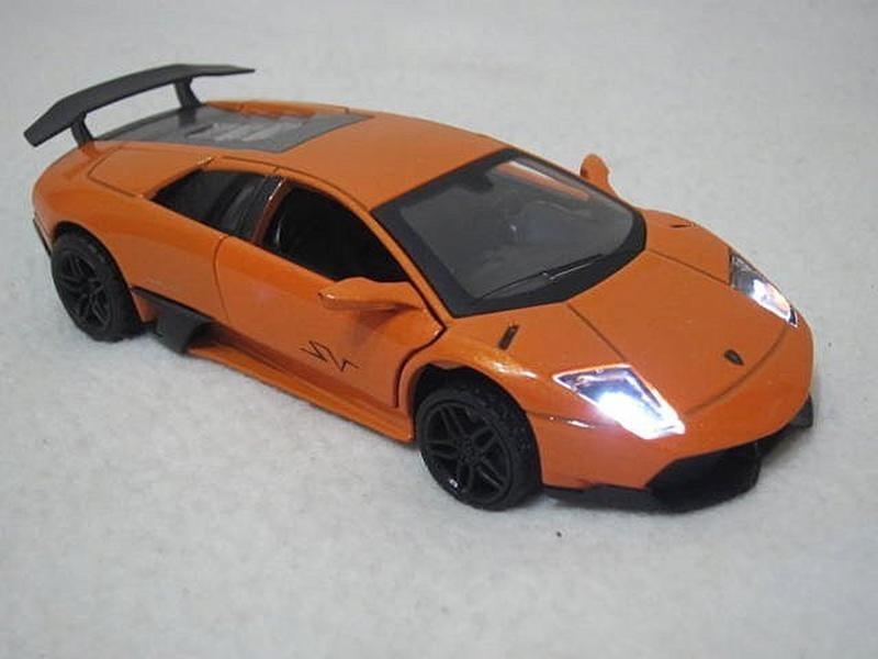【KENTIM 玩具城】聲光版1:32(1/32)全新藍寶堅尼LAMBORGHINI LP670-4橙色合金迴力車