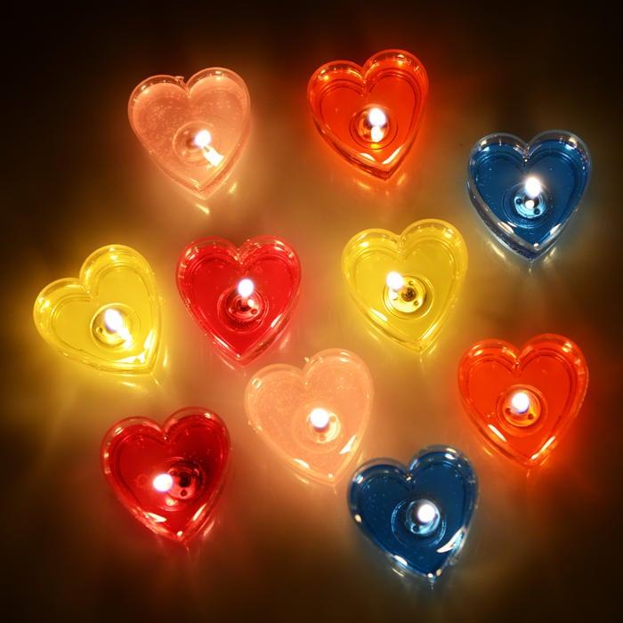 愛心蠟燭浪漫創意生日布置蠟燭無煙果凍心形蠟燭香薰蠟燭表白求婚【潮咖地帶】