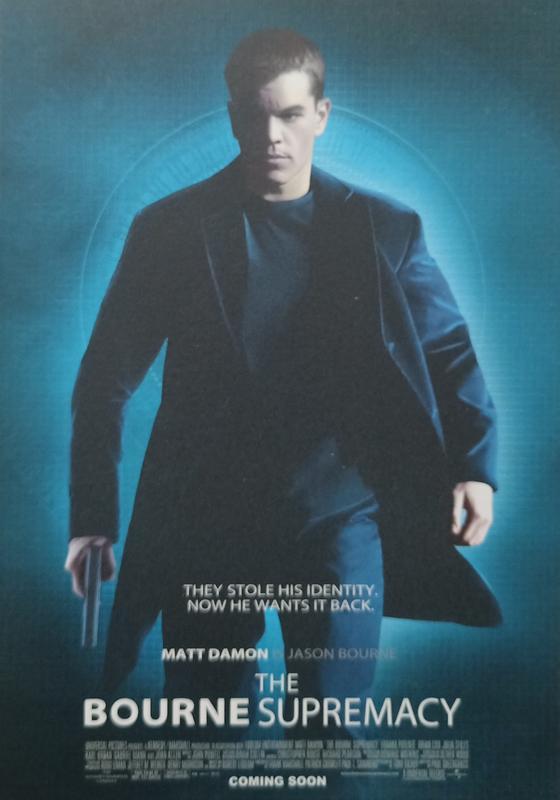 C電影酷卡明信片 神鬼認證 : 神鬼疑雲 The Bourne Supremacy 麥特戴蒙