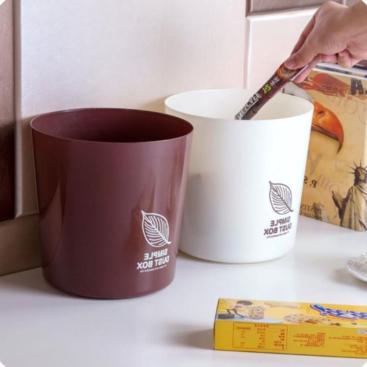 塑料垃圾桶家用客廳茶幾迷你垃圾筒辦公桌桌面無蓋小垃圾盒【潮咖地帶】