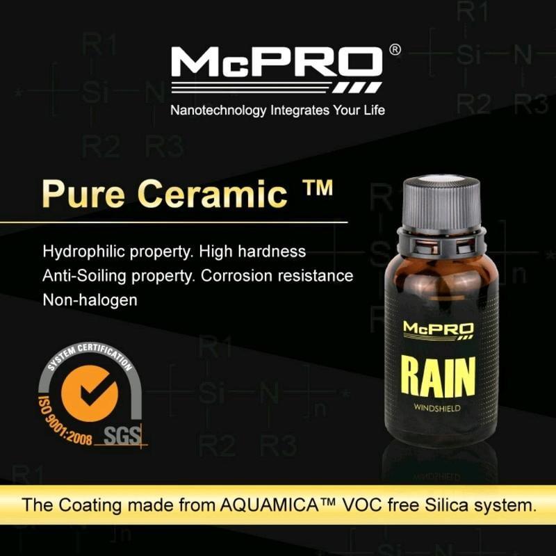 McPRO Rain Windshield 超視野玻璃專用鍍膜劑組(內含油膜拔除劑100ml)