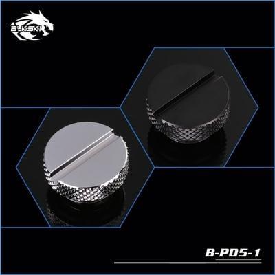 【肯瑞PC特裝】Bykski B-PD5-1 精品鑽石紋一字堵頭 水冷 黑 銀