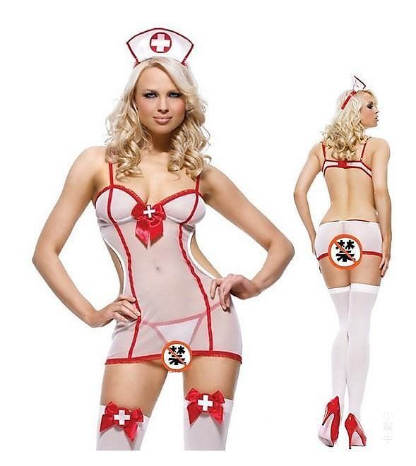 性感內衣 歐美情趣內衣護士情趣內衣透視裝 制服誘惑護士裝