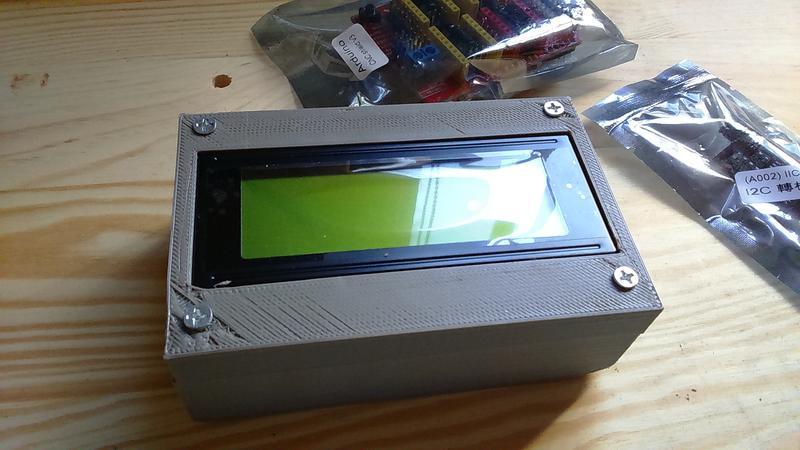 3D列印 Arduino UNO 帶2004 20x4LCD框外殼 電子萬用盒 4x10.6x6.8 Arduino開發