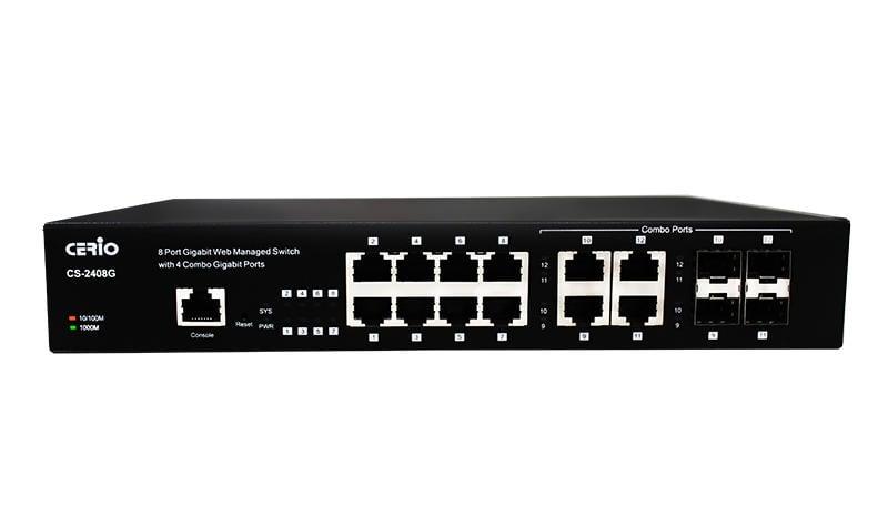 CERIO CS-2408G 8埠Giga 管理型網路交換器_KT【原廠公司貨】