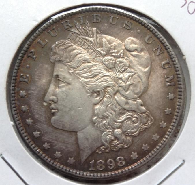 美國1898年 1 DOLLAR AU 摩根銀幣錢幣古幣收藏 保真